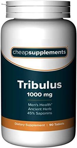 Cheap Supplements Tribulus 1000mg 90 Tablets Vegetarian Vegan product image