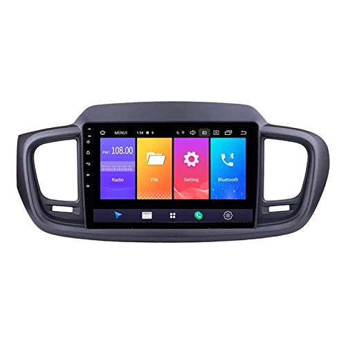 Android 8.1 Double DIN Bluetooth Car Estéreo Radio De Automóvil para Kia Sorento 2015-2018, Pantalla Táctil Capacitiva De 9 Pulgadas/BT/WiFi/MirrorLink/SWC/Vista Posterior Cámara