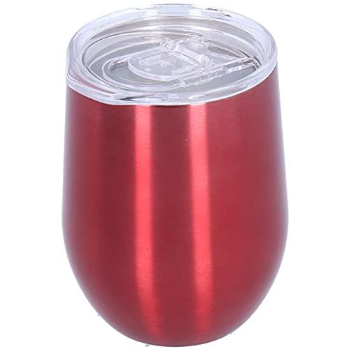 Alvinlite Copa de Vino aislada con Tapa Taza de café Duradera de Doble Capa roja de Vino, Adecuada para champán, cócteles, Cerveza, Uso de Oficina