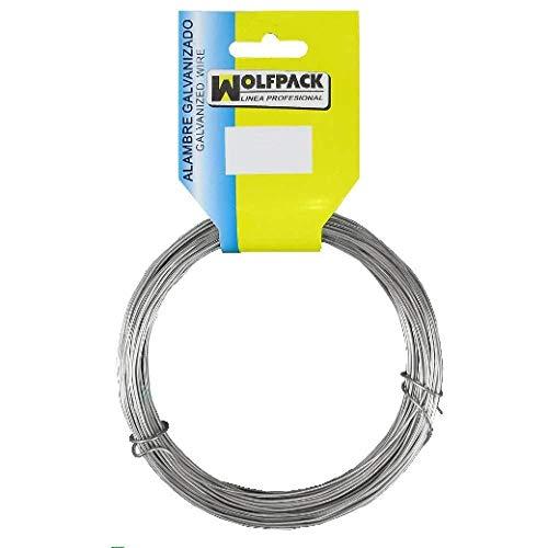 WOLFPACK LINEA PROFESIONAL Alambre Galvanizado (Rollo 250 gramos) Nº13/2,0 mm.