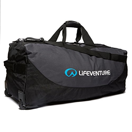 Lifeventure Unisex Adults' Expedition Duffle 120L Wheeled, Black/Charcoal Bag, One Size