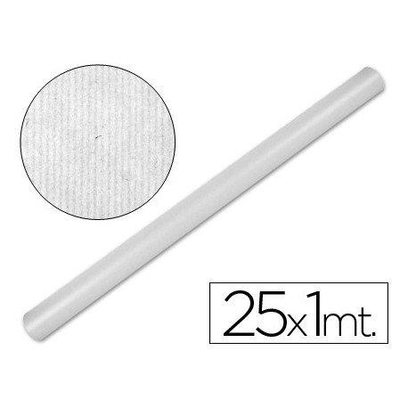Liderpapel Papel Kraft Blanco -Rollo 25X1 Mt
