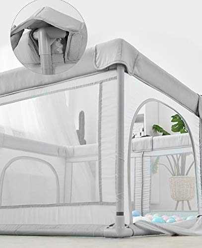 Unbekannt GUO@ Activity Center Parc de sécurité Playard pour bébé pour Enfants de 10 Mois à 6 Ans Blue 120 * 120cm 8 Panneaux