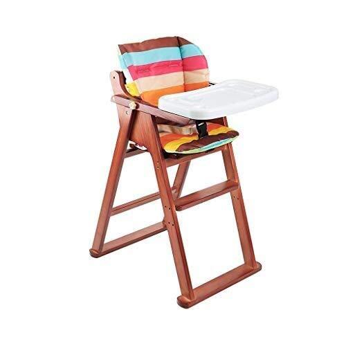 YDHYYDQCFJL Baby Kinderstoel - Baby Eetstoel Baby Kinderstoel Houten Eetstoel Opvouwbare Verstelbare Voedsellade Met Kussen