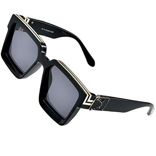 Retro Millionaire Sonnenbrille Square Metal Punk Rock Hip Hop Sonnenbrille Männer Frauen
