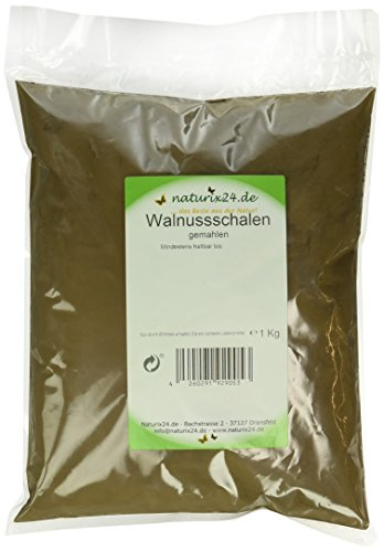 Naturix24 Walnussschalen gemahlen – Beutel, 1er Pack (1 x 1 kg)