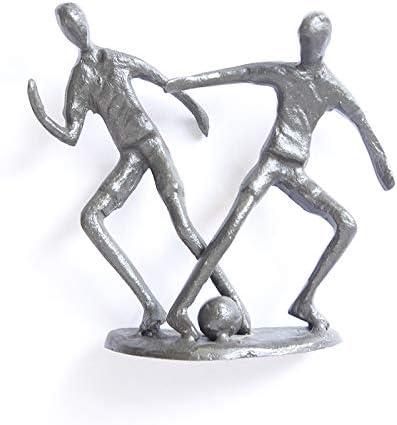 UJHNM Decor Sculpturesstatue Figurines Tulsa Fort Worth Mall Mall Ornament Iron Figure Cast