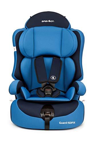 Babylon isofix universal para coche Guard ISOFIX silla bebe coche para Niños 9-36 kg silla coche grupo 1 2 3 isofix, silla coche bebe ECE R44 / 04 Azul