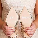Pegatinas para Zapatos de Boda Sí Quiero (Blanco)