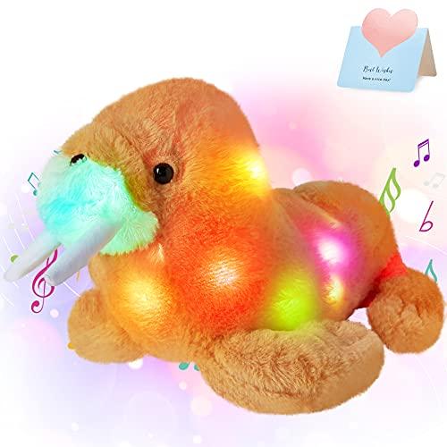 Glow Guards 14'' Walrus Musical Light up Stuffed Animal Glowing...