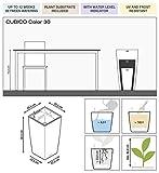 LECHUZA CUBICO Color 22 Weiß Komplett-Set - 4