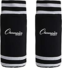 Champion Sports SL4B Youth Sock Style Soccer Shin Guards - Ages 4-6, Black, Small
