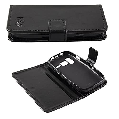 caseroxx Handy Hülle Tasche kompatibel mit Doro Primo 218/368 Bookstyle-Hülle Wallet Hülle in schwarz