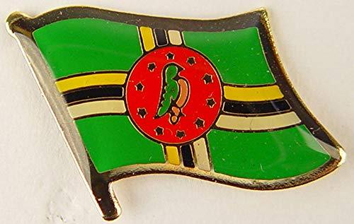 Dominica-Flagge, 2,5 cm, Metall