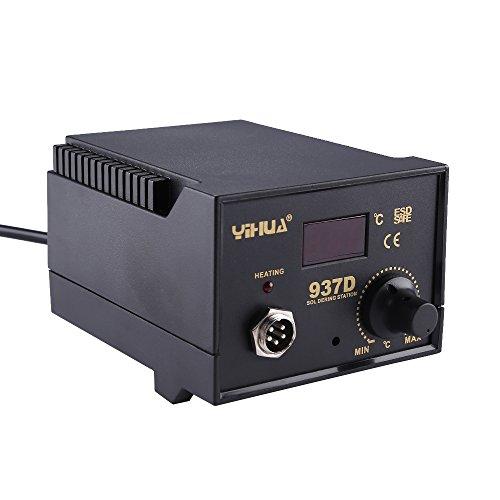 Station de Soudage Fer à Souder Electrique Pistolet à Air Chaud avec Affichage LED Numérique Température Réglable Professionnel (937D, 45W)