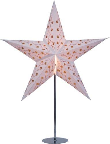 Guru-Shop Ständer für Faltbarer Advents Leucht Papierstern, Weihnachtssterne Edelstahl, 65x13x13 cm, Elektrozubehör