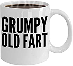 Over the Hill Gift Coffee Mug - Grumpy Old Fart - Funny gag gift for fathers, grandfathers and cantankerous men