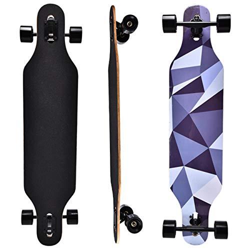 HBHHYRT Longboard Skateboard 41 in Skateboard Completo 8 Capas De Arce Skate para Principiantes Patineta Truco para Principiantes y Patinadores Profesionales