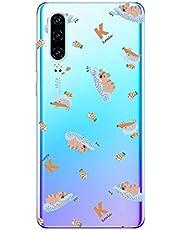 Oihxse Compatible con Huawei P9 Plus Funda Cristal Silicona TPU Suave Ultra-Delgado Protector Estuche Creativa Patrón Protector Anti-Choque Carcasa Cover(Pereza A7)