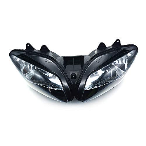Fast Pro Motorrad Schwarz Scheinwerfer Kopf Licht für Yamaha YZF R1 2002-2003