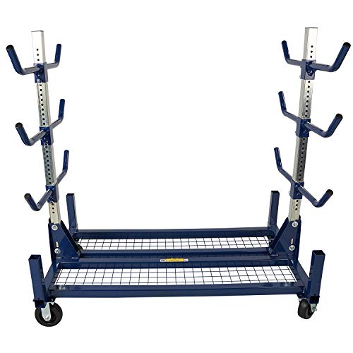 """CURRENT TOOLS 505 Conduit Rack - 1 000 LB Capacity Heavy Duty Conduit Cart with Large 6"""" Casters; Two Swivel & Two Fixed"""