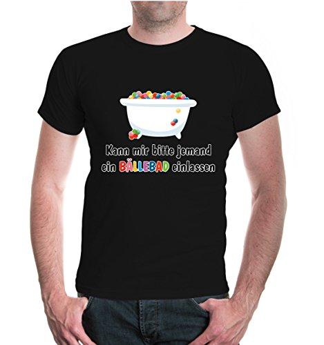 T-Shirt Kann Mir Bitte jemand EIN Bällebad einlassen-XL-Black-z-Direct