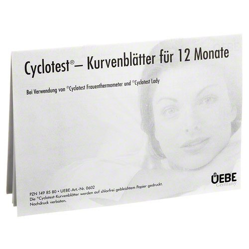 CYCLOTEST Kurvenblätter für Fruchtbarkeitsprofil 1 P