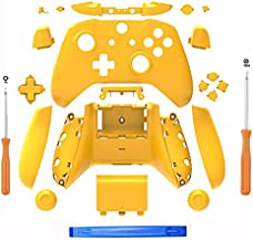 SN-RIGGOR Replacement Housing Full Shell Set Full Buttons Set Faceplates ABXY Buttons RB LB Bumpers for Xbox One S Slim Controller (3.5 mm Headphone Jack) S Controller Repair Parts (Yellow)