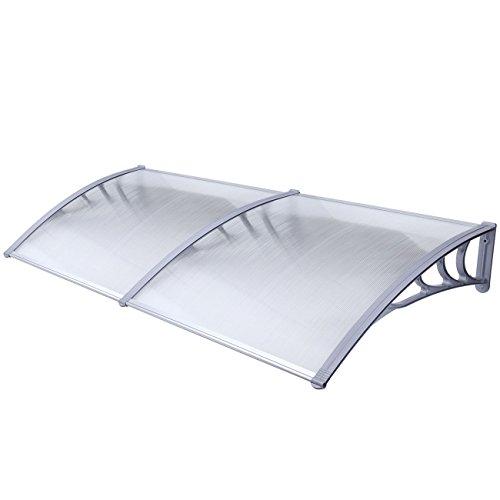 ALEKO DC40X80 Polycarbonate Outdoor Window or Door Canopy 40 x 80 Inches Gray