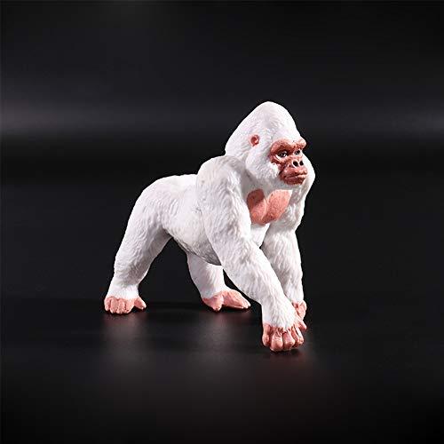 Elegante Mini-Figuren, Zoo mit Wilden Tieren, Spielzeug, als Geschenk für Kinder Albino Gorilla