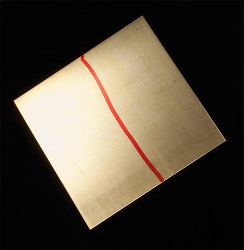 """Yellow Brass 20 Gauge Sheet - 6"""" x 6"""""""