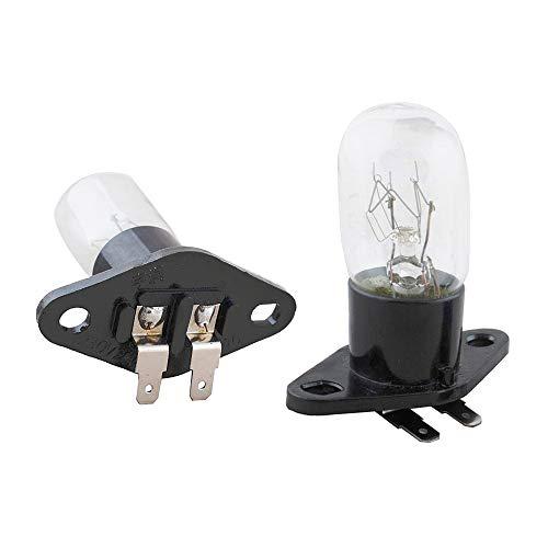 Poweka 2 Stück Mikrowellenbirne, T170 Sockel, 20W 240V Mikrowellen Garraum Lampe für LG, Panasonic, Daewoo, Panasonic, Sharp, Sanyo Mikrowellenherd