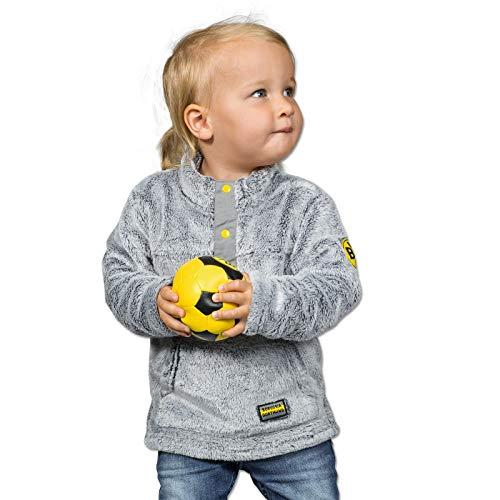 BVB Kinder Teddysweatshirt für Kleinkinder, grau, 110/116, 2466516