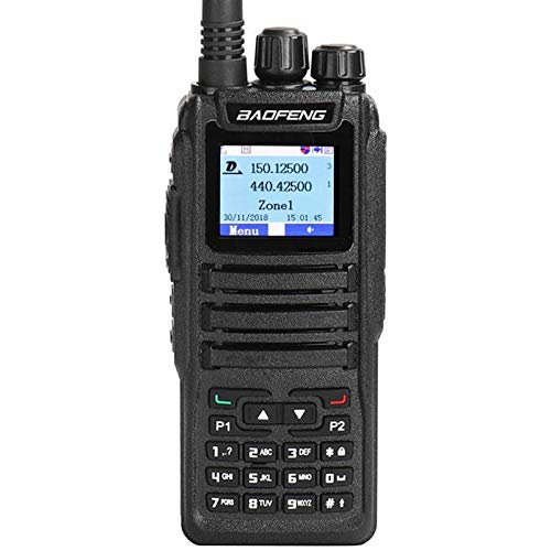 BAOFENG DM-1701 - Radio digital (2 m, 70 cm, DMR, 2 canales VHF/UHF, 3000 canales, con cable de programación y auriculares)