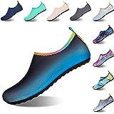 Zapatos de Agua Hombre Mujer Zapatos de Piel descalza Zapatillas de Deportes Acuáticos para Paseo en Playa Buceo Snorkel Kayak Surf 40/41 EU Azul Oscuro