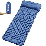 Fayavoo Sleeping Pad for Camping, 28in Wide, Ultralight Compact Self Inflatable Camping Mat, Large Durable Waterproof Air Mattress for Backpacking, Hiking, Traveling, Tent Gear, Camp Sleep Pad - Bed