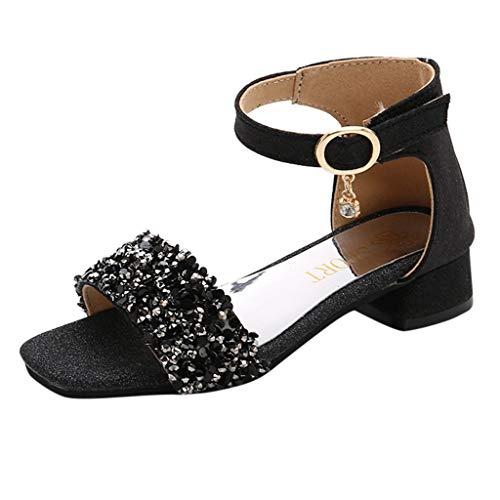 YWLINK NiñAs Sandalias Lentejuelas Gruesas con Zapatos De Princesa Zapatos Romanos Viajes Al Aire Libre Fiesta En La Playa Antideslizante CóModo Lindo Casuales ActuacióN De Danza Regalo De CumpleañOs