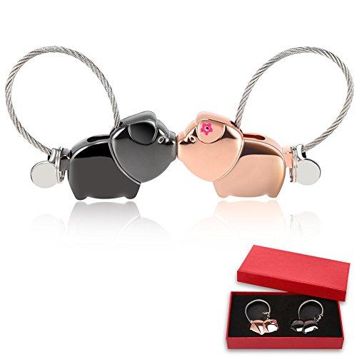 Un paio di novità Kissing rosa Piggy lovers Key Chain Accessories