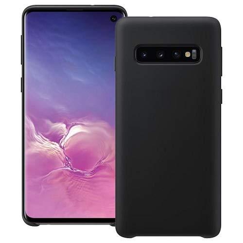 CABLEPELADO Funda Silicona Samsung Galaxy S10 Textura Suave (Negro)