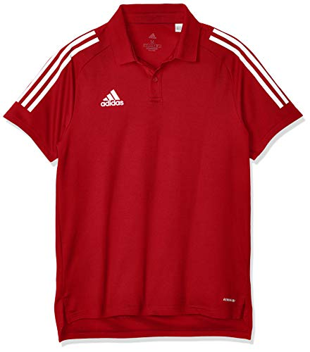 adidas Herren CON20 Polo Shirt, Team Power red/White, 2XL