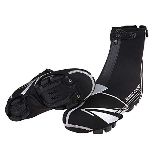 Cubiertas de zapatos de ciclismo unisex Bloqueo a prueba de viento impermeable de la cubierta del zapato del Ciclo de Invierno Overshoes reflectante a prueba de agua de alta temperatura de la cubierta