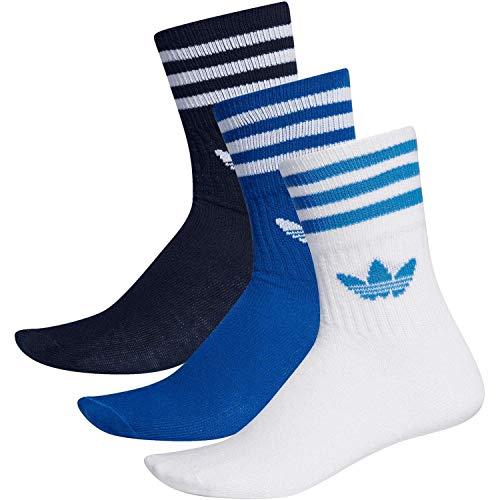 Adidas Mid Cut Crew Socks Socken 3er Pack (39-42, navy/royal/white)