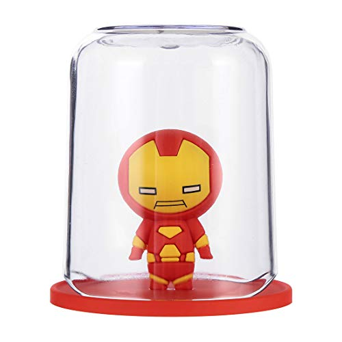 marvel toothbrush holders MINISO Marvel Color Gargle Cups Wash Cup Kids Toothbrush and Toothpaste Holder Mug Bathroom Countertop Organizer - Iron Man