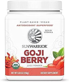 Sunwarrior Goji Berry Powder - Organic Goji Berries Red Superfood Powder, 100% Non-GMO & Vegan Antioxidant Powder Made wit...