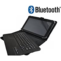 """Funda con Teclado Bluetooth Extraíble para Tablet Bq Edison 1,2,3 10.1"""" Quad Core / Bq Aquaris E10 10.1"""" / Bq Tesla 10.1"""" / Bq Tesla 2 10.1"""" / Bq Livingstone 1,2,3,3n 10.1"""" Bq Aquaris M10 Sony Xperia Z 2 Lenovo A10-70 etc.."""