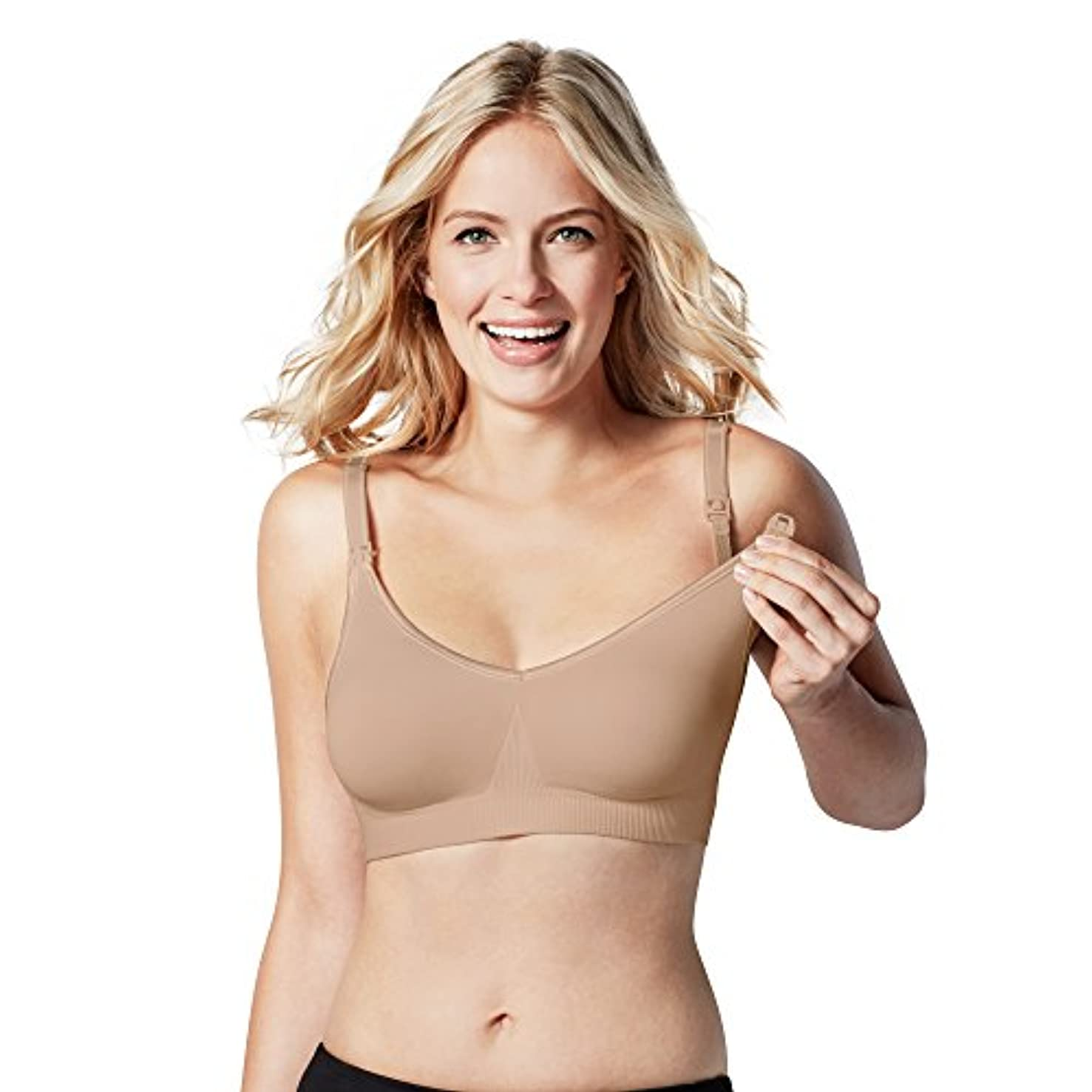 BRAVADO DESIGNS Women's Body Silk Seamless Nursing Bra and Maternity Bra, XS – XXL and Full Cups (A to J Cups)