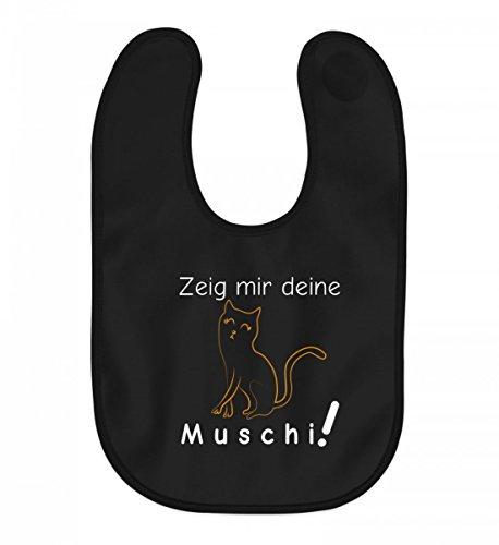 Zeig Mir Deine Muschi (Katze) | Katzenliebhaber Katzenfreunde Katzen-Freunde Geschenk - Baby Lätzchen