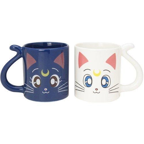 Bandai Sailor Moon Luna and Artemis Pair Mug Cup