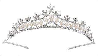 eDealMax Novia de la boda del Rhinestone de la Perla de imitación Tiara de la Corona