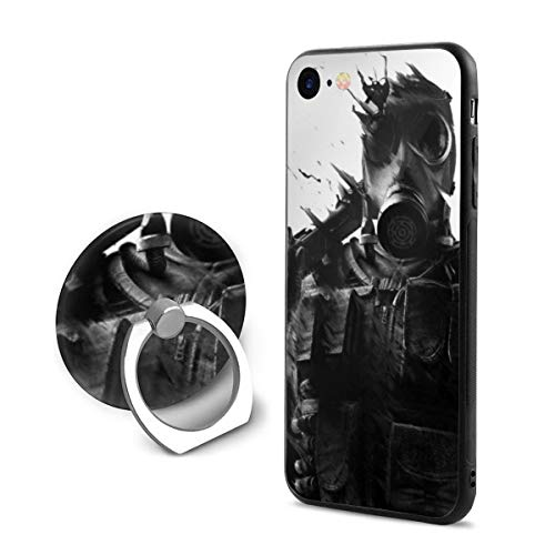 GekhHaon Rainbow Six Siege iPhone 7 iPhone 8 Phone Case Ultra Slim Cover Case with 360 Degree Swivel Ring